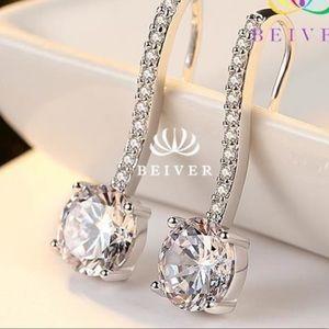 Jewelry - Luxury Brilliant Cut AAA  2 CT CZ Earrings